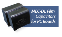 ASC Capacitors MEC-DL Film Capacitors for PCB board mounting