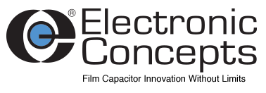 New Yorker Electronics supplies the full line of Electronic Concepts Energy Storage Capacitors, AC Filters Capacitors, High Temperature Capacitors, DC Link Capacitors, Resonant Circuit Capacitors, Coupling and Decoupling Capacitors, Snubber Capacitors, Inverter Capacitors and Frequency Discriminating Capacitors