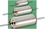 Cornell Dubilier Electronics HHT Series of Ruggedized Axial-Lead Aluminum Electrolytic Capacitors