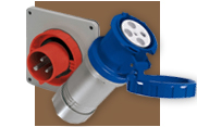 Power Dynamics (PDI) IEC 60309 line of connectors, plugs, inlets and receptacles