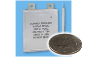 Cornell Dubilier Electronics (CDE) new type PPC ultra-thin 1mm polymer aluminum electrolytic capacitor
