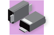 Vishay Semiconductors VTVS Series of 400W TransZorb® Transient Voltage Suppressor (TVS) Diodes, from VTVS5V0ASMF to VTVS63GSMF, in the SMF Package from New Yorker Electronics